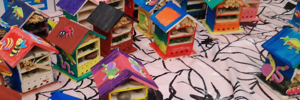 Decorated bug houses